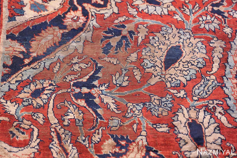 Antique Persian Silk Heriz Carpet 47239 Lines Nazmiyal