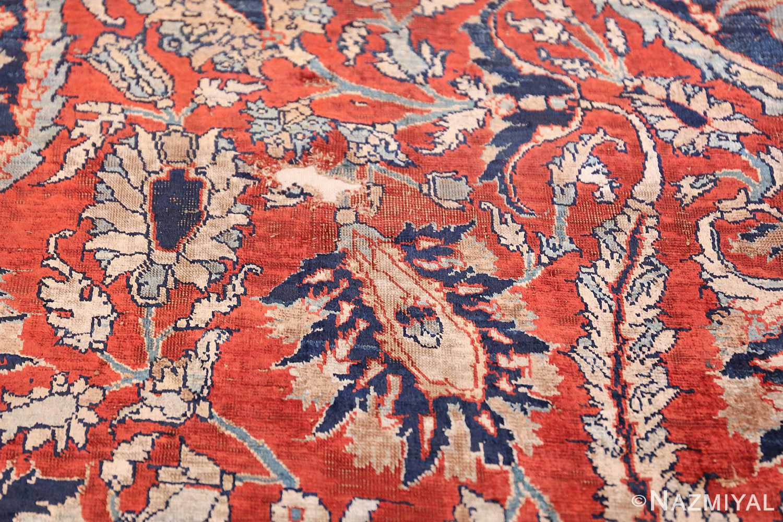 Antique Persian Silk Heriz Carpet 47239 Reinforced Branch Nazmiyal