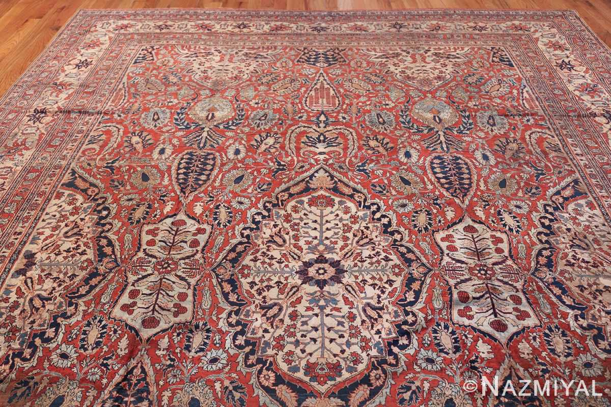 Antique Persian Silk Heriz Carpet 47239 Top Design Nazmiyal