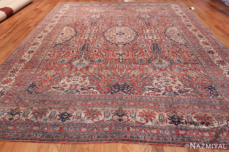 Antique Persian Silk Heriz Carpet 47239 Whole Design Nazmiyal