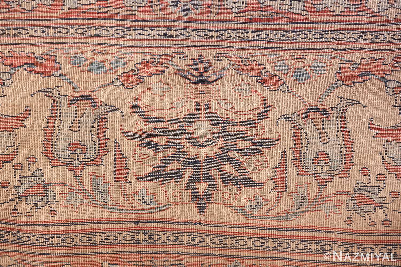 Antique Persian Silk Heriz Carpet 47239 Woven Knots Nazmiyal