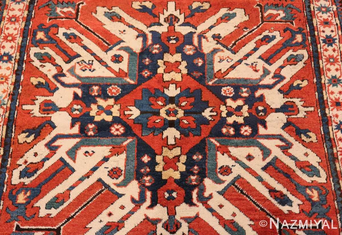 Background Antique Eagle Kazak rug 47608 by Nazmiyal