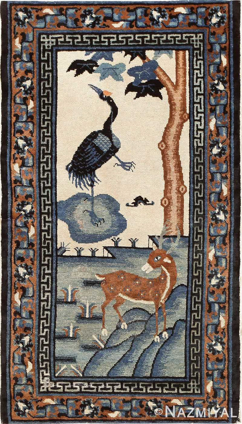 Chinese Rug Antique Chinese Carpet With Animal Scene 47677