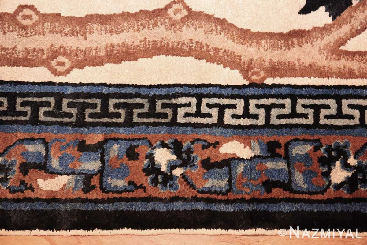 beautiful scenic antique chinese rug 47677 border Nazmiyal