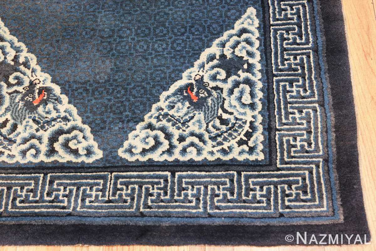 Corner Antique Dragon Chinese rug 47762 by Nazmiyal
