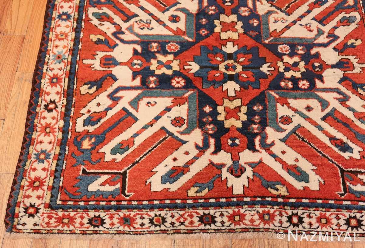 Corner Antique Eagle Kazak rug 47608 by Nazmiyal
