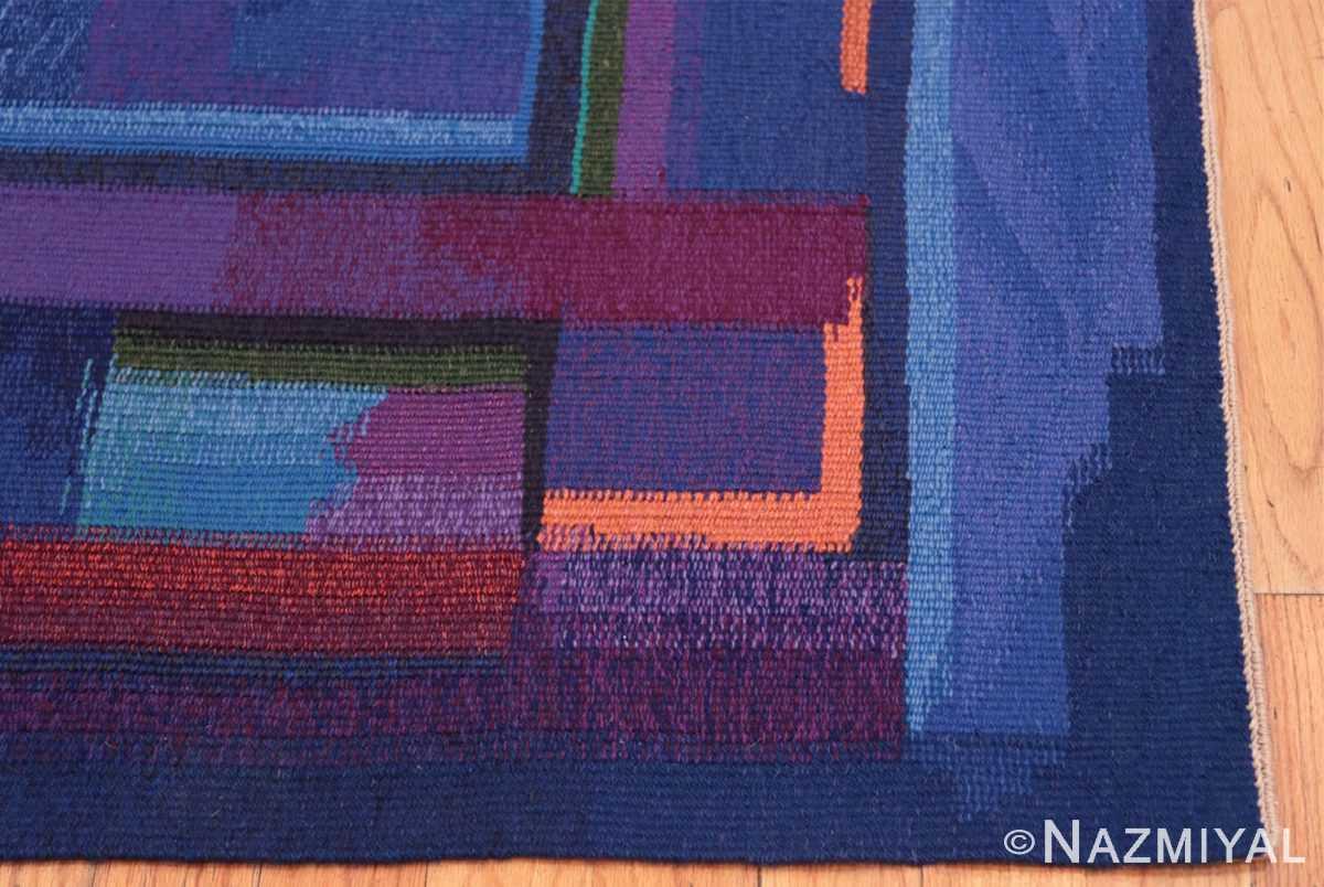 Corner Vintage Norwegian tapestry rug designed by Eevahenna Aalto 47673 by Nazmiyal