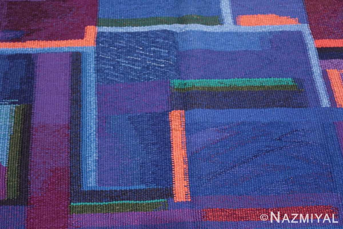 Field Vintage Norwegian tapestry rug designed by Eevahenna Aalto 47673 by Nazmiyal