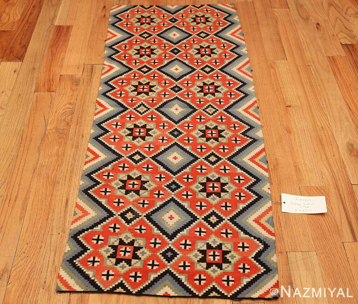 flat woven vintage swedish kilim 47674 whole Nazmiyal