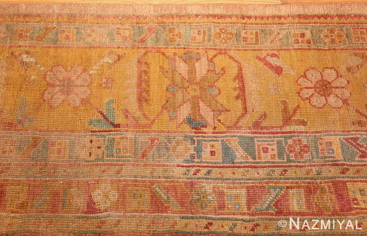 large antique turkish oushak rug 47427 border Nazmiyal