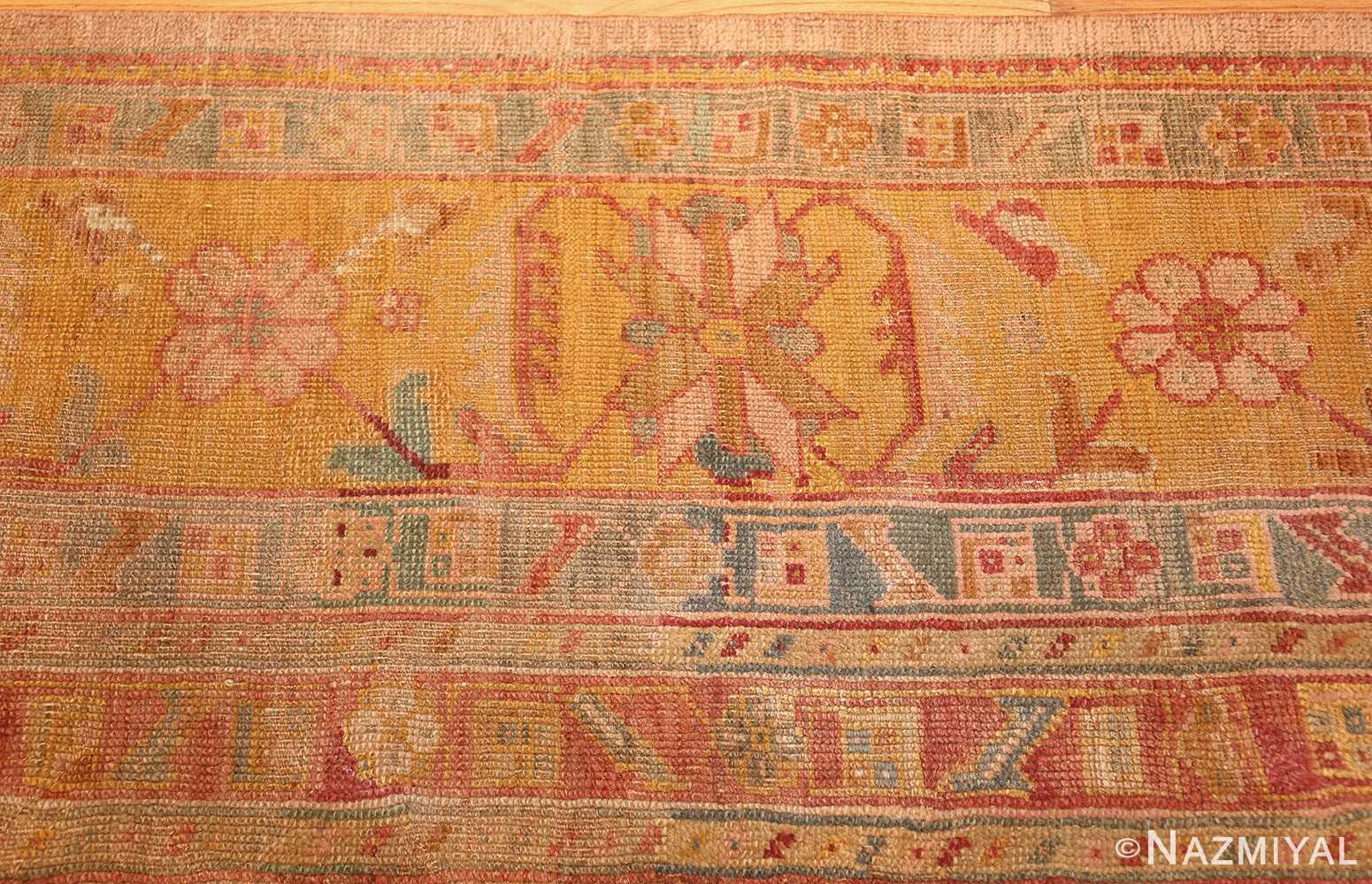 large antique turkish oushak rug 47427 border Nazmiyal