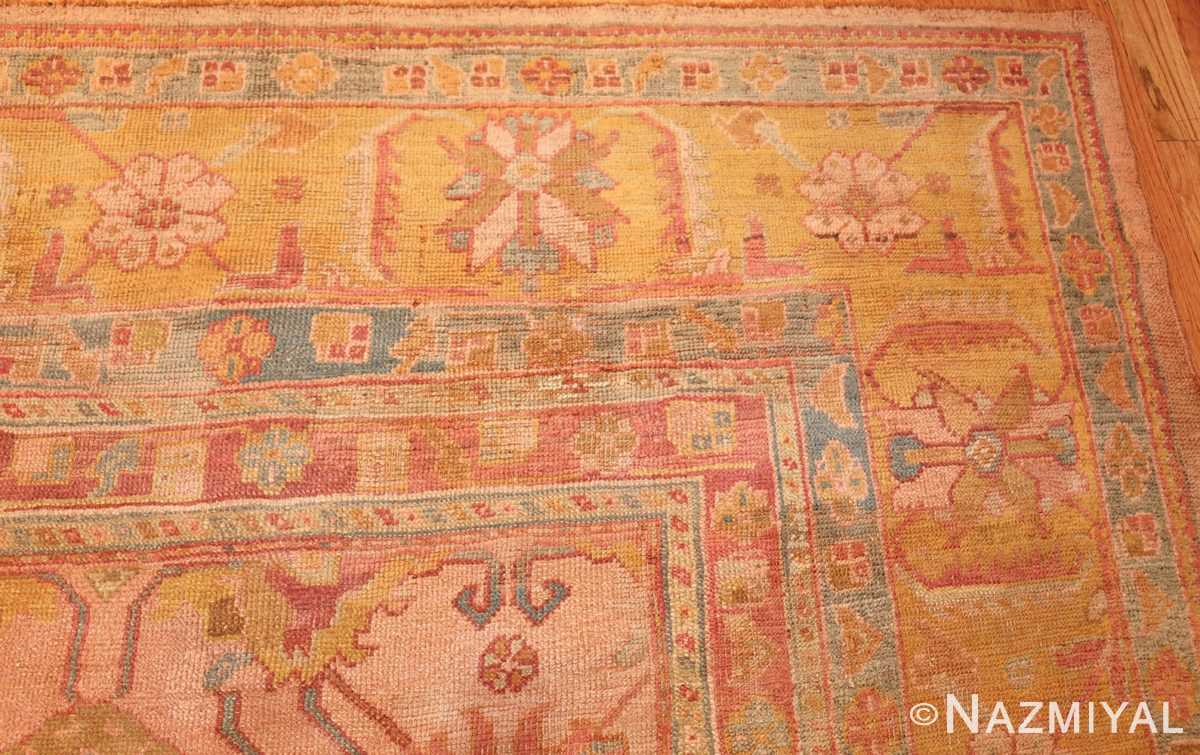 large antique turkish oushak rug 47427 corner Nazmiyal