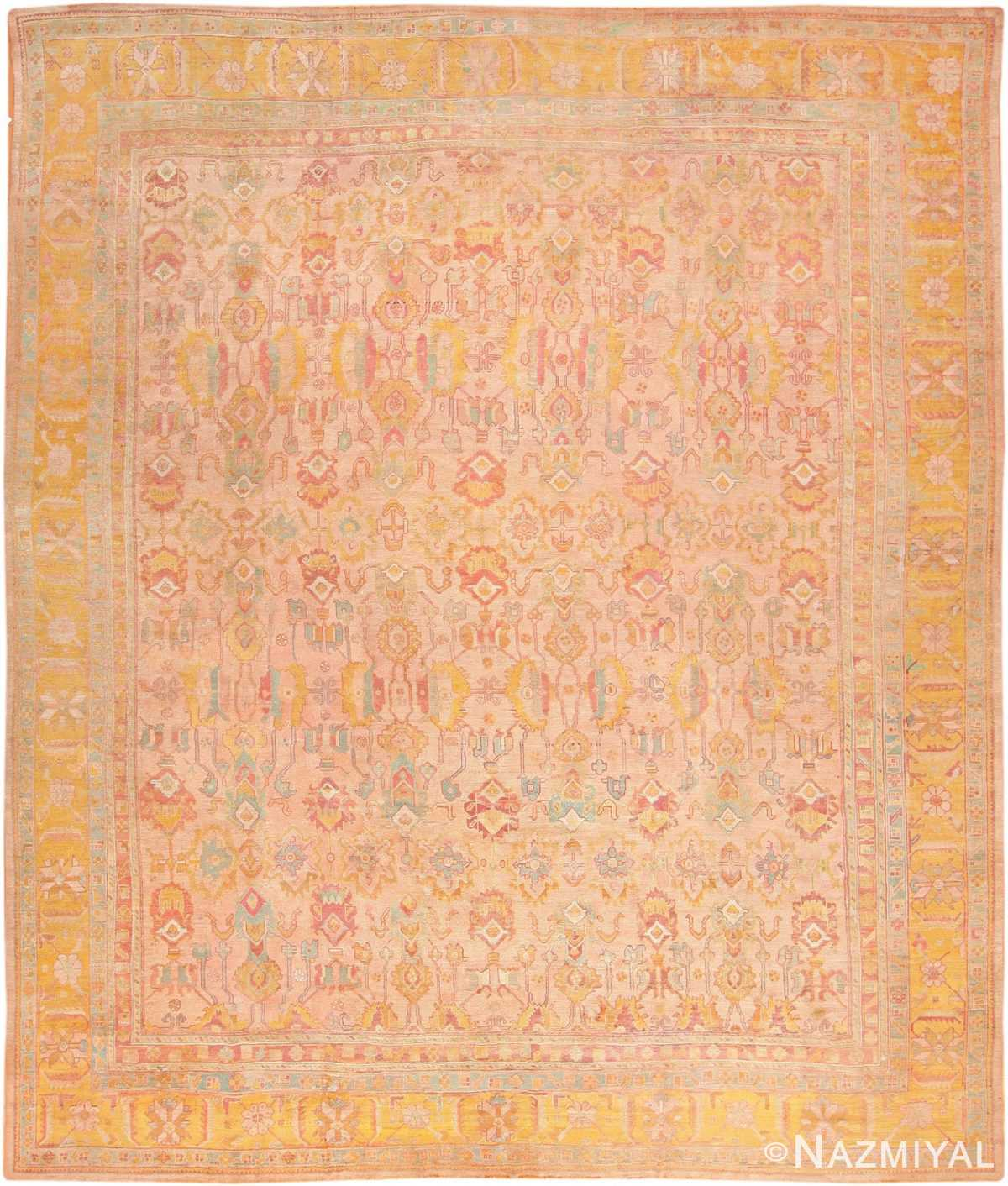 Large Antique Turkish Oushak Rug 47427 Nazmiyal