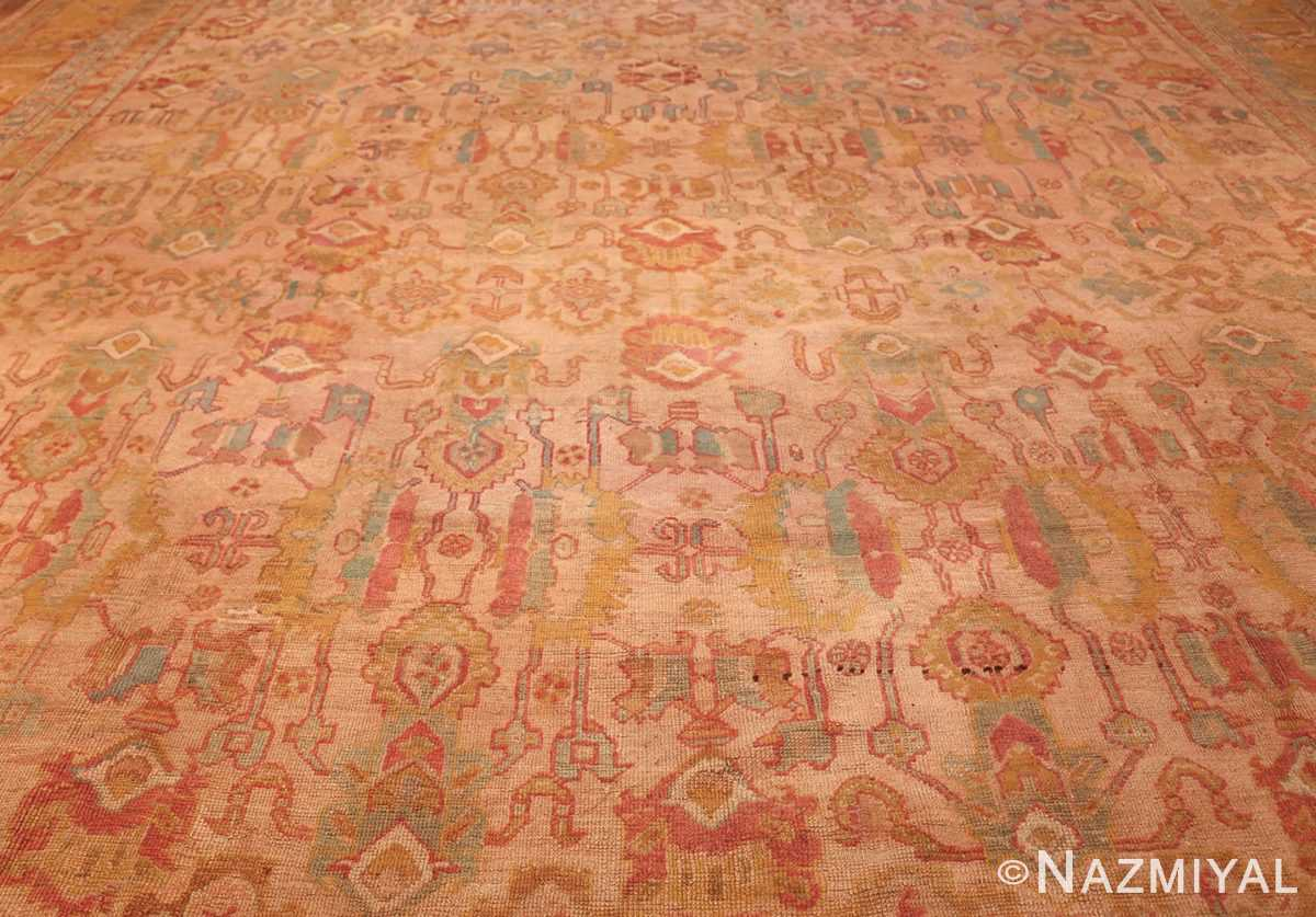 large antique turkish oushak rug 47427 field Nazmiyal