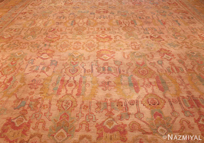 large antique turkish oushak rug 47427 field Nazmiyal