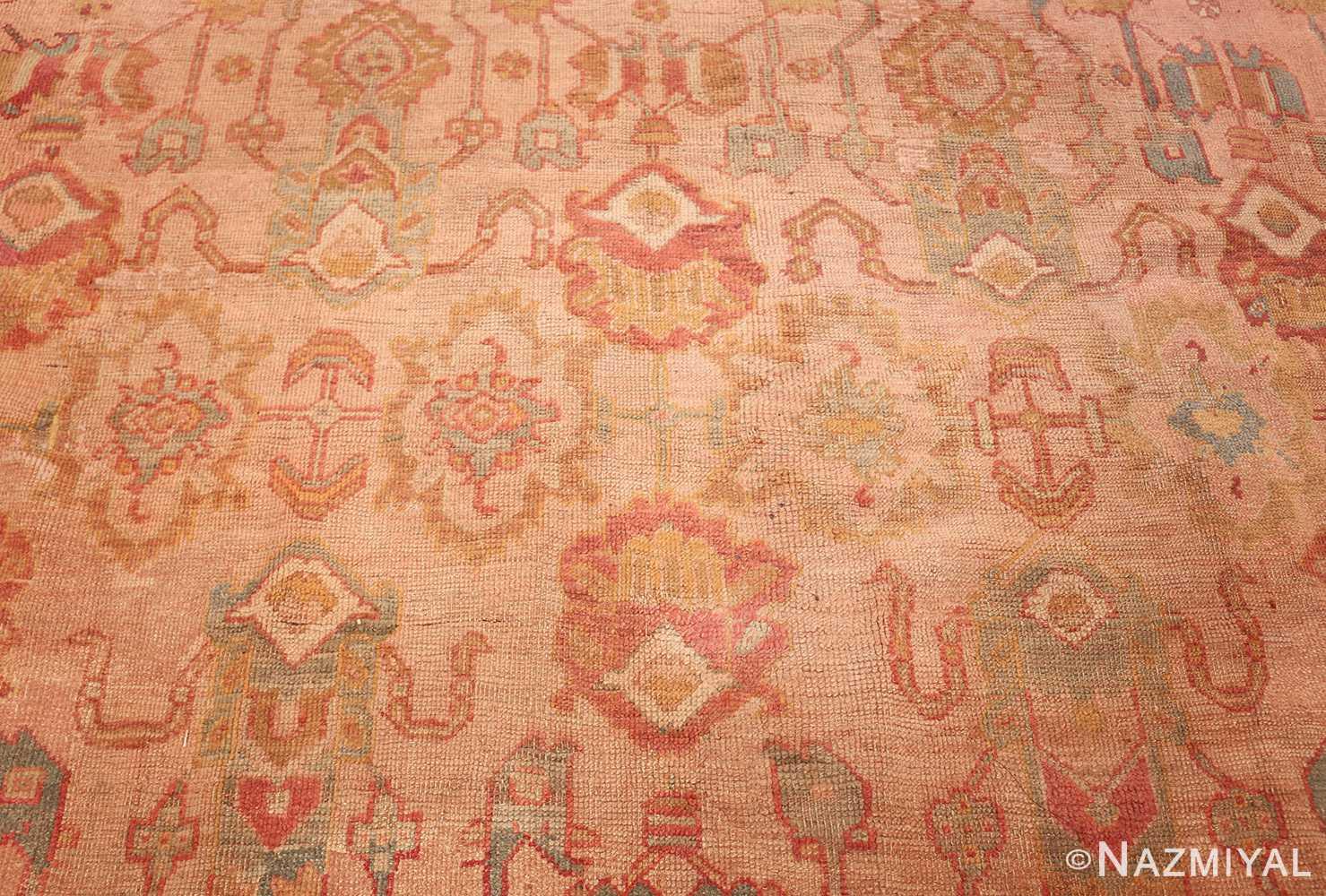 large antique turkish oushak rug 47427 middle Nazmiyal