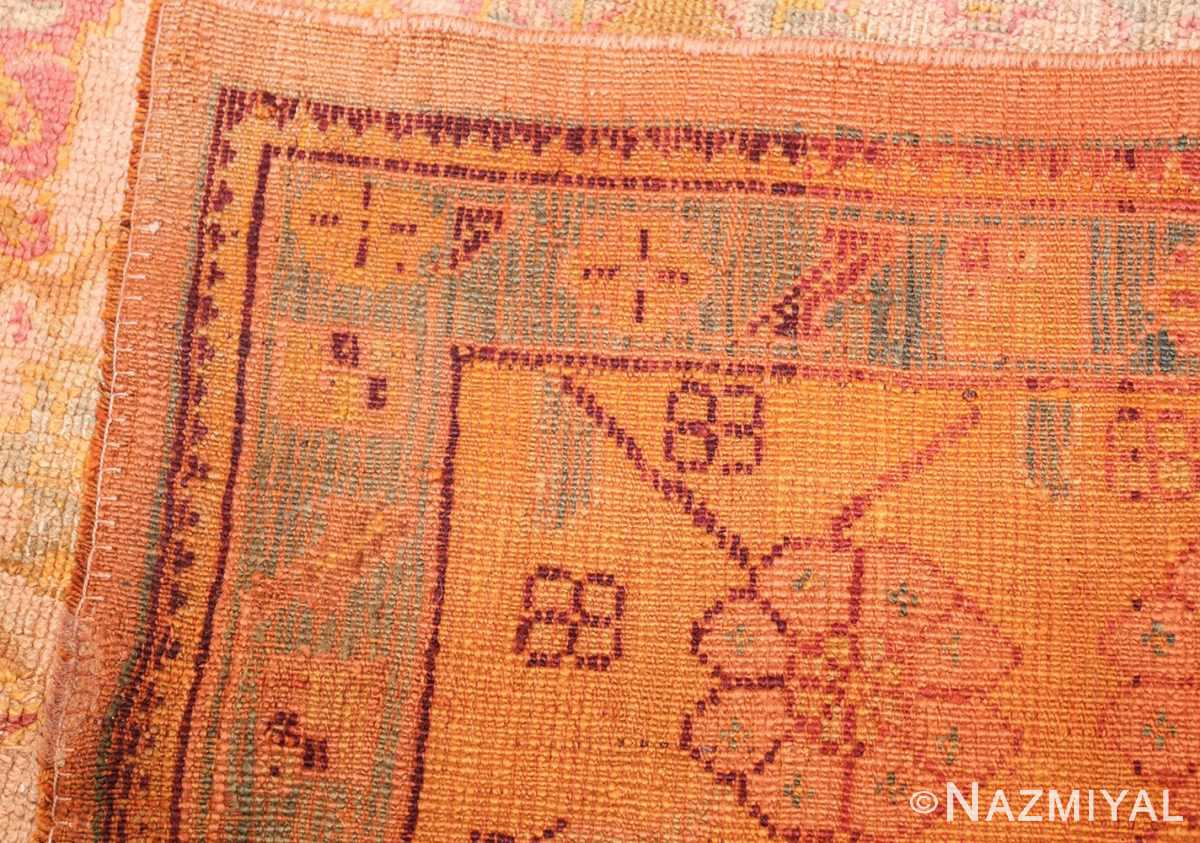 large antique turkish oushak rug 47427 weave Nazmiyal