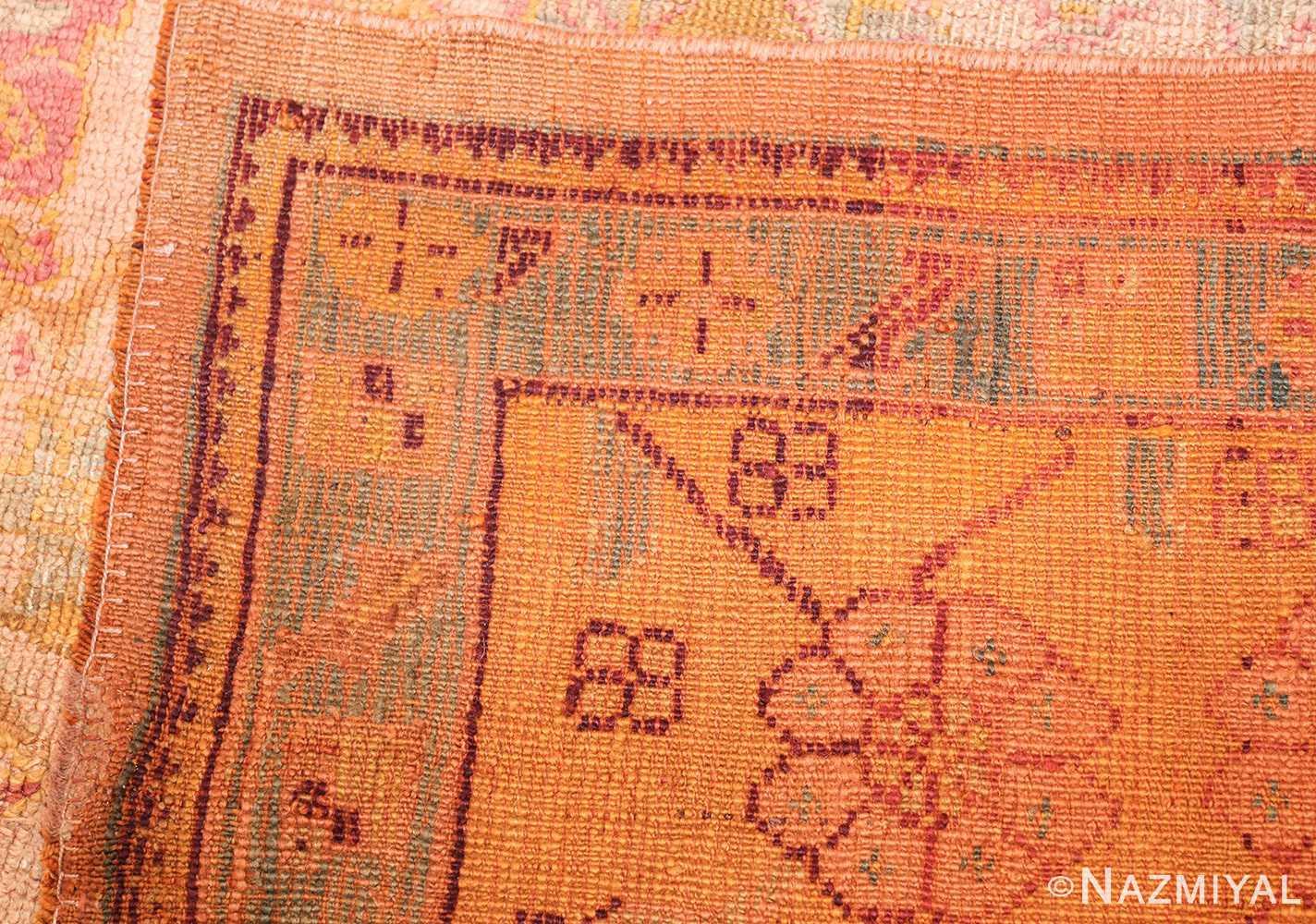 large antique turkish oushak rug 47427 weave Nazmiyal