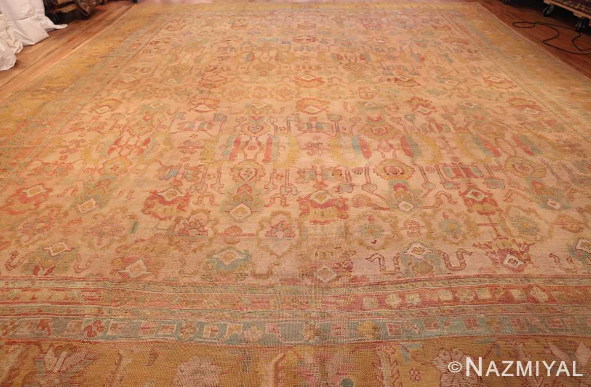 large antique turkish oushak rug 47427 whole Nazmiyal