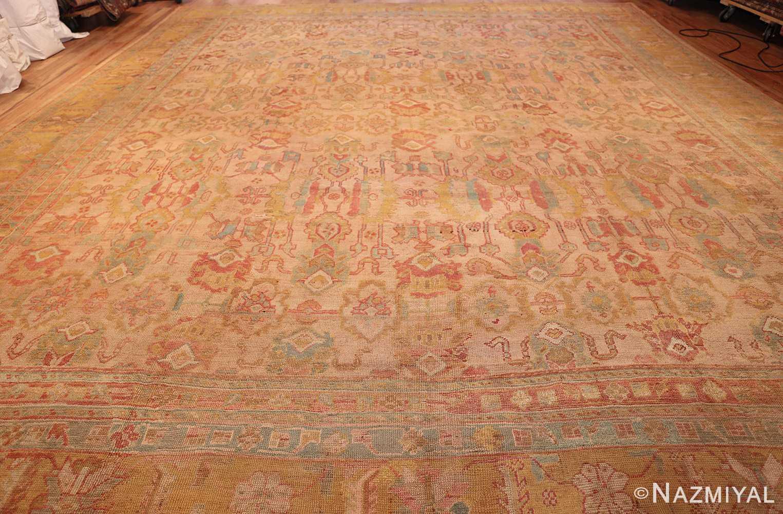 large antique turkish oushak rug 47427 whole Nazmiyal