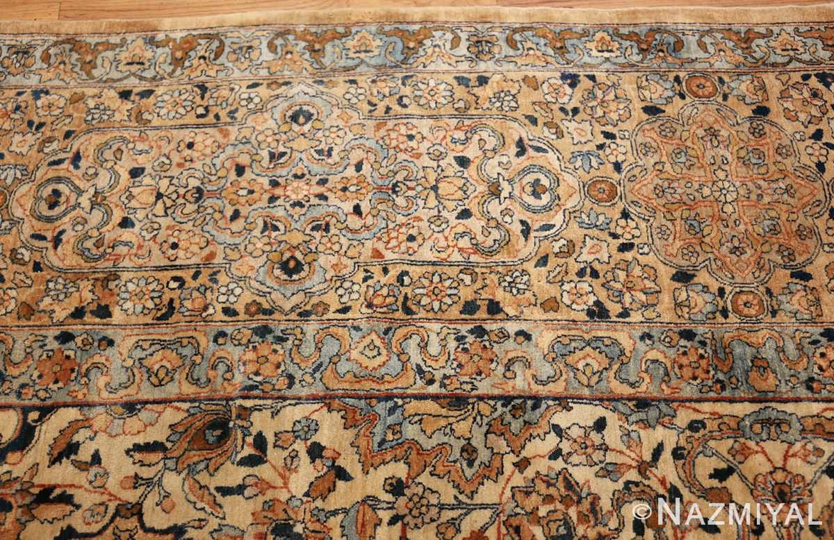 large oversize ivory background persian antique kerman rug 47527 border Nazmiyal