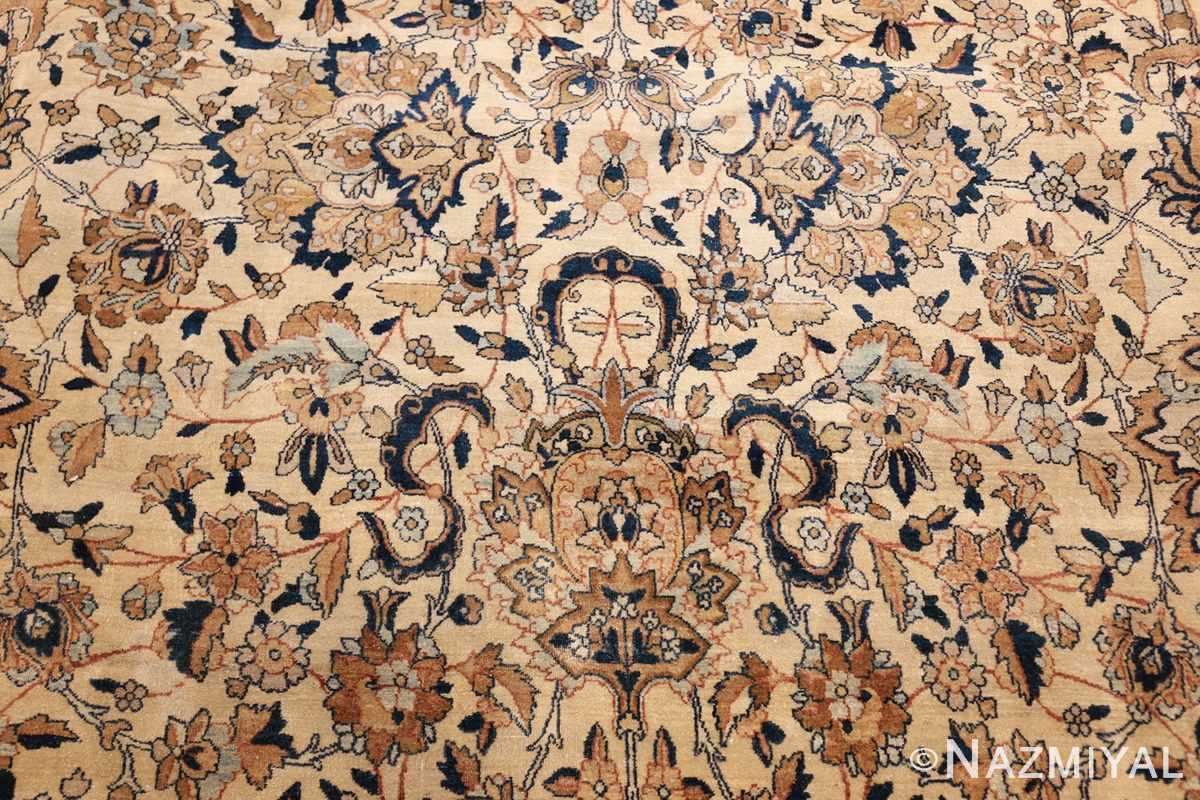 large oversize ivory background persian antique kerman rug 47527 tiara Nazmiyal