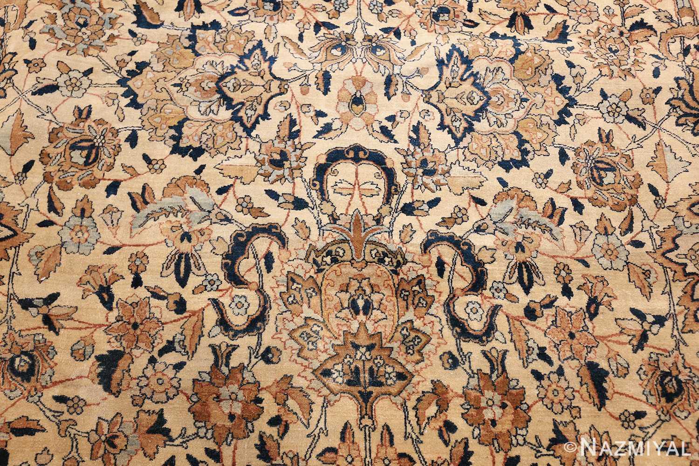 large oversize ivory background persian antique kerman rug 47527 tiara Nazmiyal