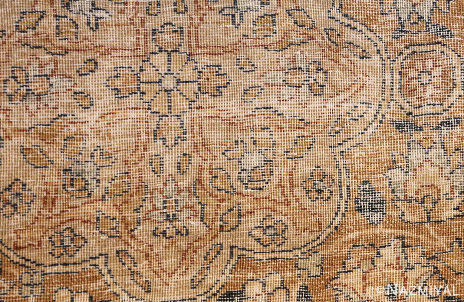 large oversize ivory background persian antique kerman rug 47527 weave Nazmiyal