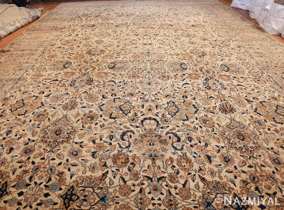 large oversize ivory background persian antique kerman rug 47527 whole Nazmiyal