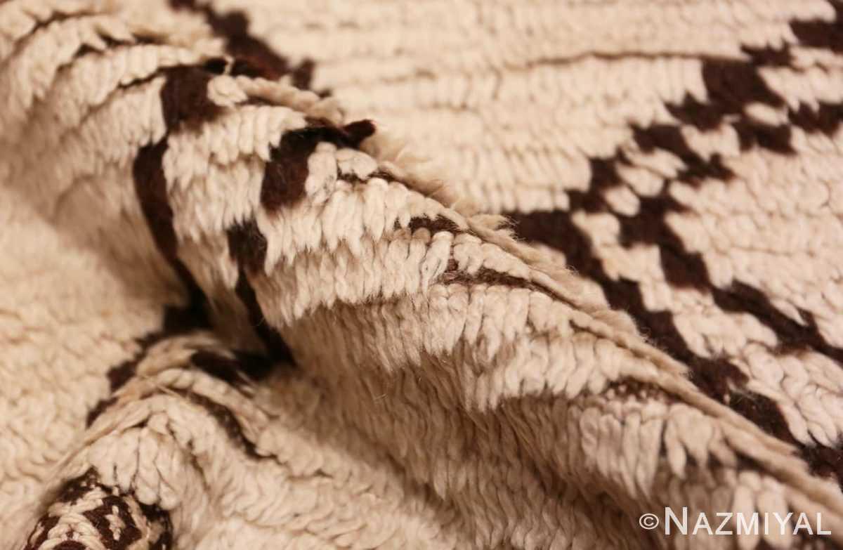 Pile Vintage Moroccan Beni Ourain Berber rug 47780 by Nazmiyal