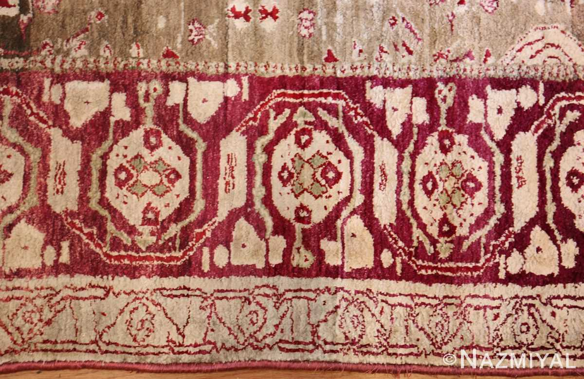rare antique silk indian agra rug 47596 border Nazmiyal