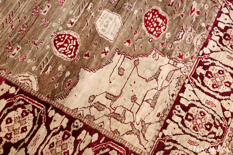 rare antique silk indian agra rug 47596 design Nazmiyal