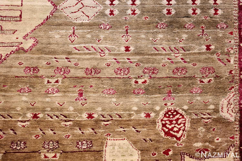 rare antique silk indian agra rug 47596 field Nazmiyal