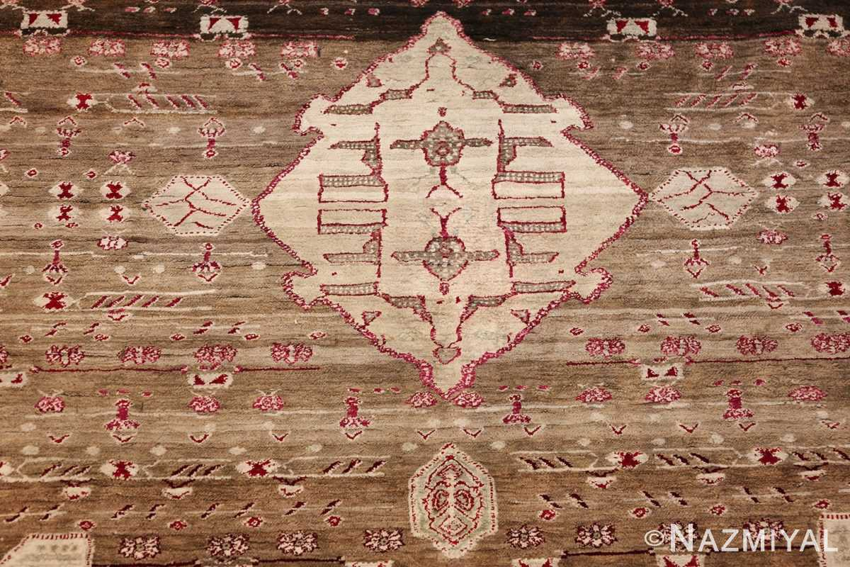 rare antique silk indian agra rug 47596 medallion Nazmiyal
