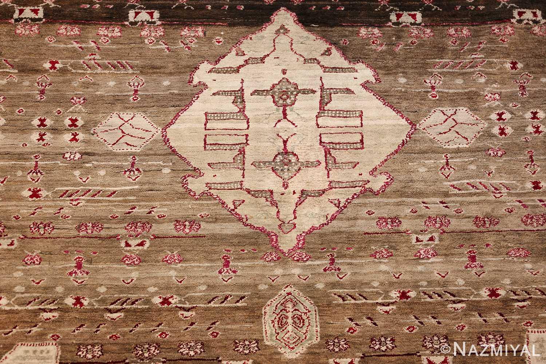 rare antique silk indian agra rug 47596 medallion Nazmiyal