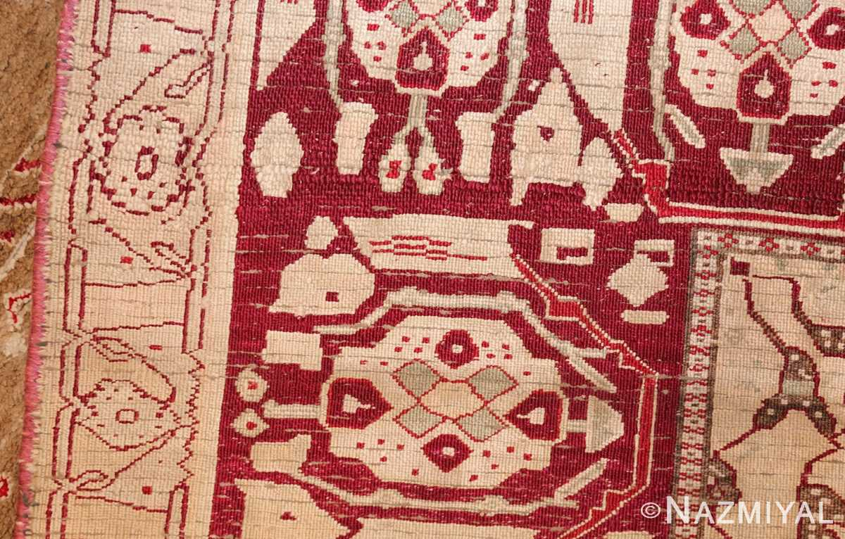 rare antique silk indian agra rug 47596 weave Nazmiyal