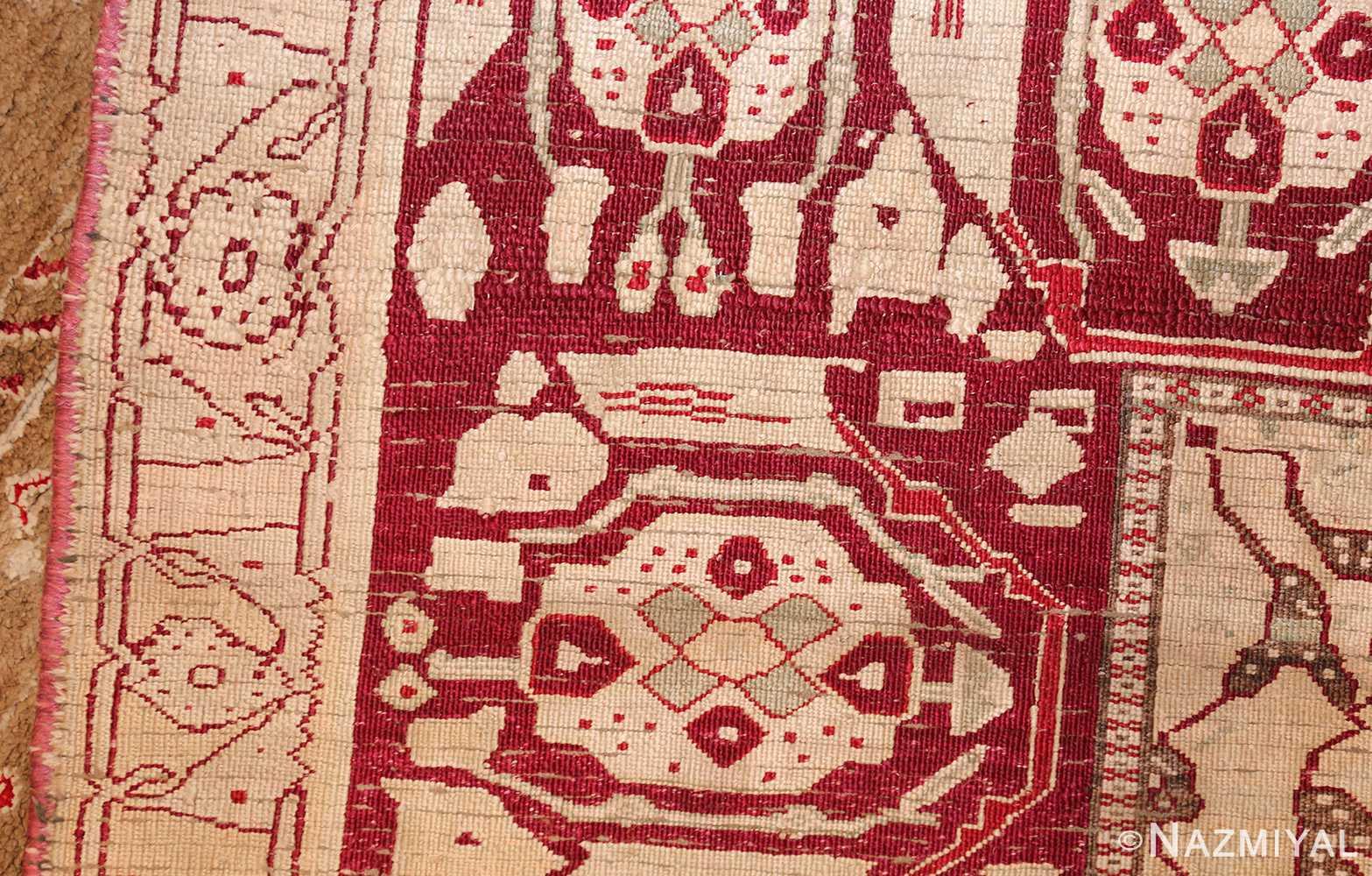 rare antique silk indian agra rug 47596 weave Nazmiyal