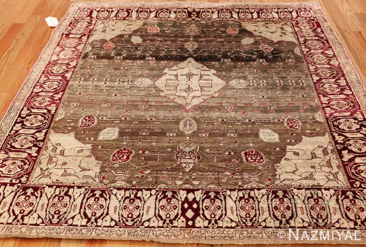 rare antique silk indian agra rug 47596 whole Nazmiyal