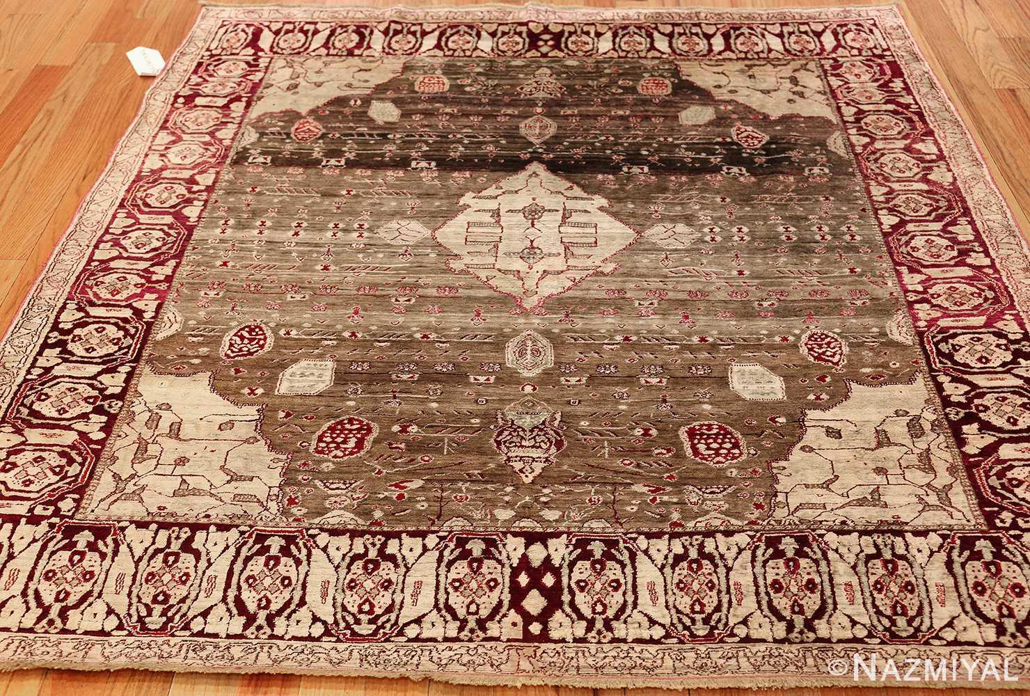 rare antique silk indian agra rug 47596 whole Nazmiyal