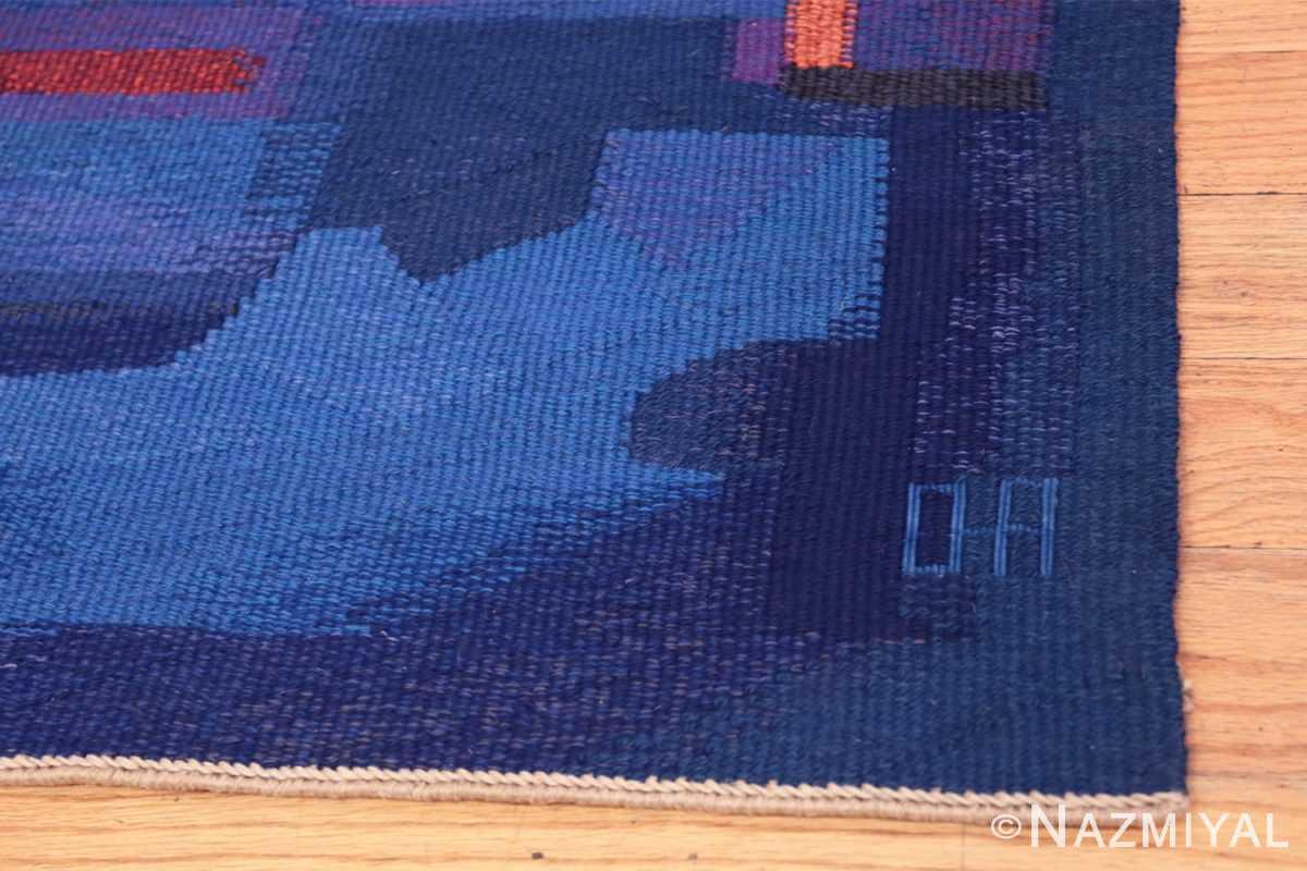 Signature Vintage Norwegian tapestry rug designed by Eevahenna Aalto 47673 by Nazmiyal