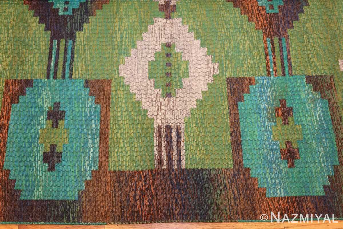 vintage double sided scandinavian rug 47679 border Nazmiyal