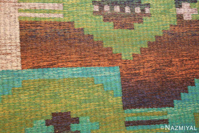 vintage double sided scandinavian rug 47679 brown Nazmiyal
