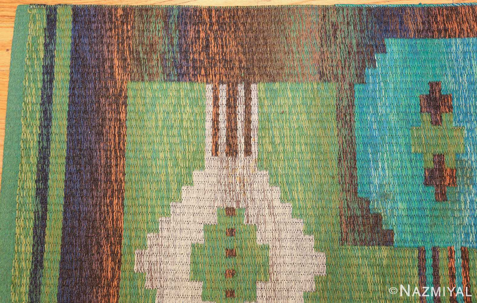 vintage double sided scandinavian rug 47679 corner Nazmiyal