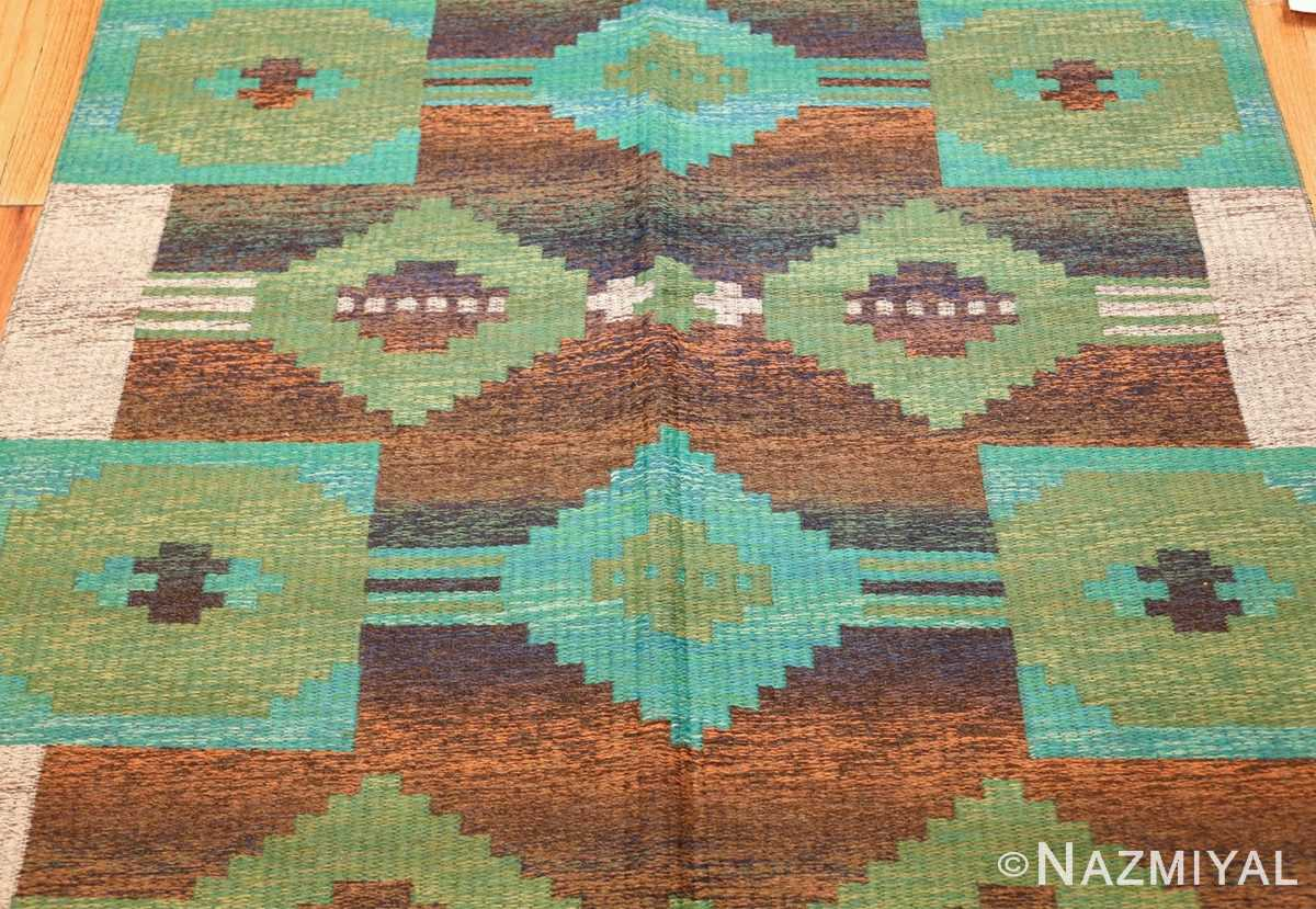 vintage double sided scandinavian rug 47679 field