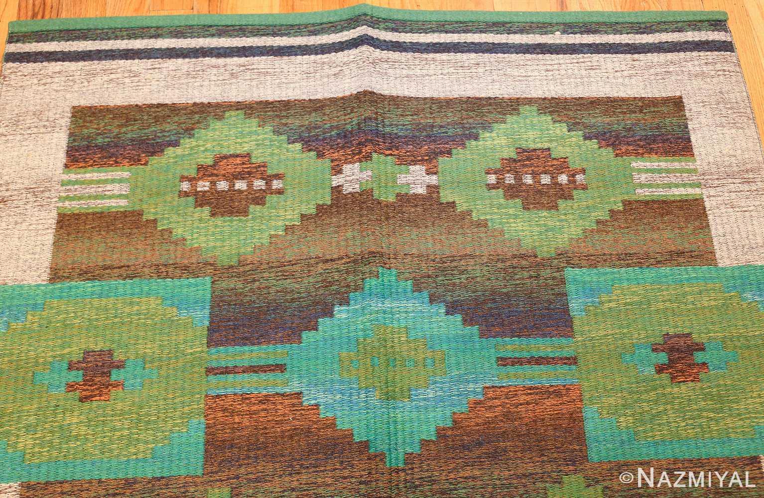 vintage double sided scandinavian rug 47679 top Nazmiyal