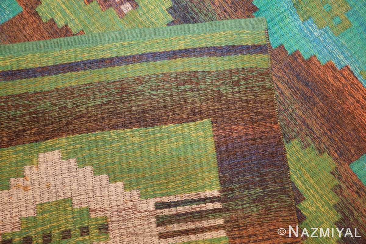 vintage double sided scandinavian rug 47679 weave Nazmiyal