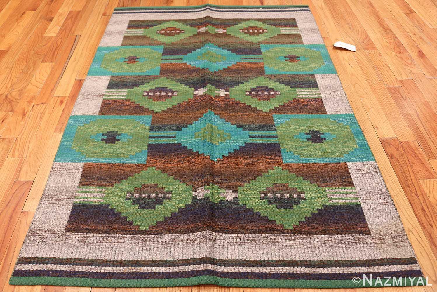 vintage double sided scandinavian rug 47679 whole Nazmiyal