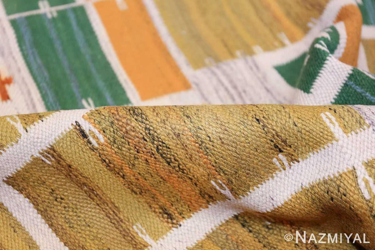 Vintage Scandinavian Gold Rug 47672 Geometric Pile Nazmiyal