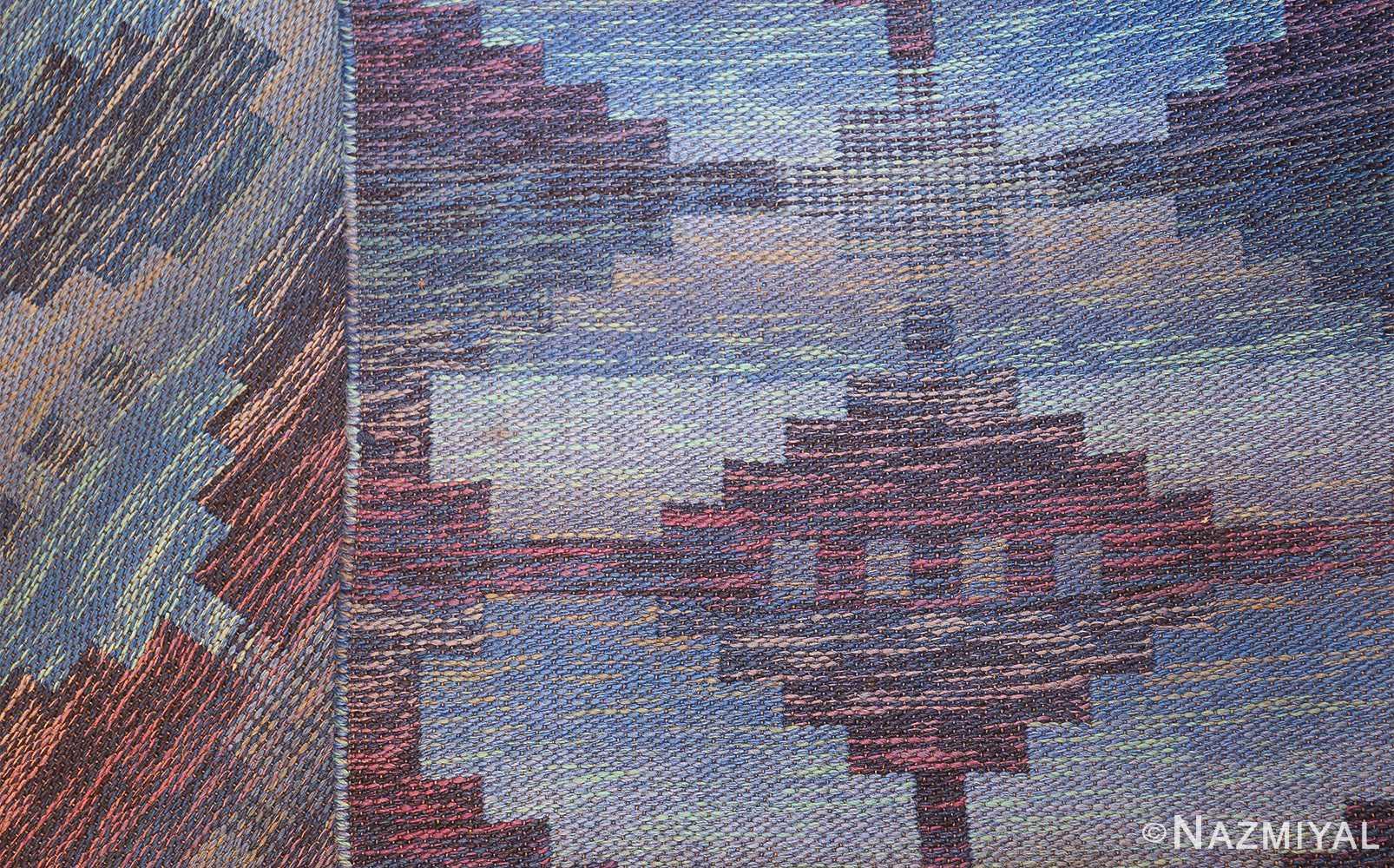 vintage scandinavian swedish rug 47678 back Nazmiyal