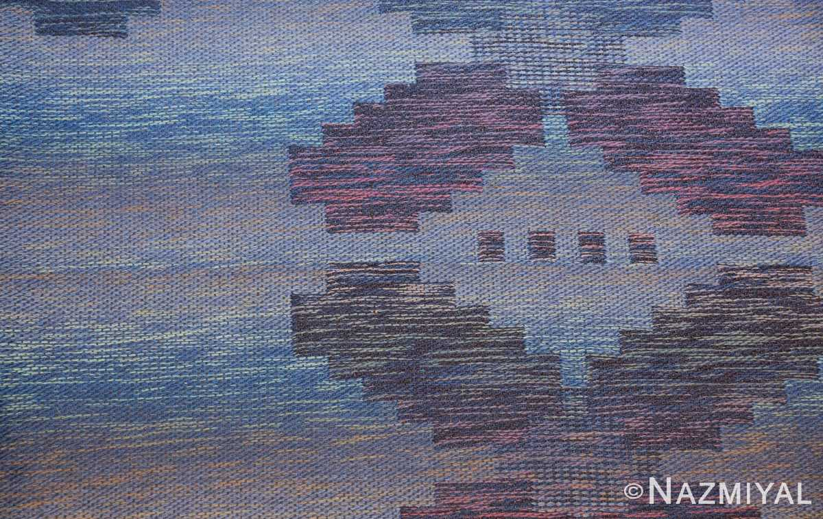 vintage scandinavian swedish rug 47678 blue Nazmiyal